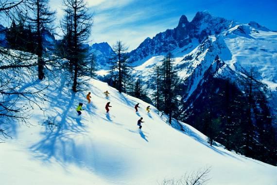 Катание на лыжах и сноуборде, Шамони, Франция